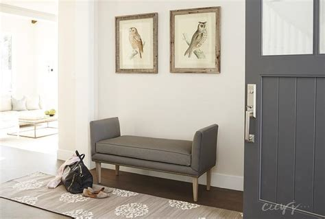 front entrance bench foyer with gray bench transitional entrance foyer
