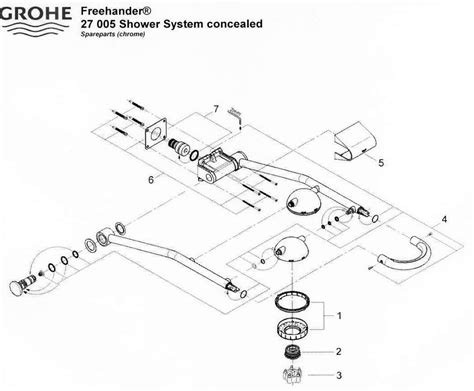 Grohe Freehander Shower by Grohe Freehander Shower System Concealed 27 005 Shower Spares Grohe Parent 30