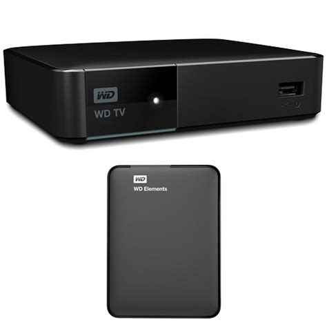 Western Digital Tv wd wd tv media player and 1tb elements portable