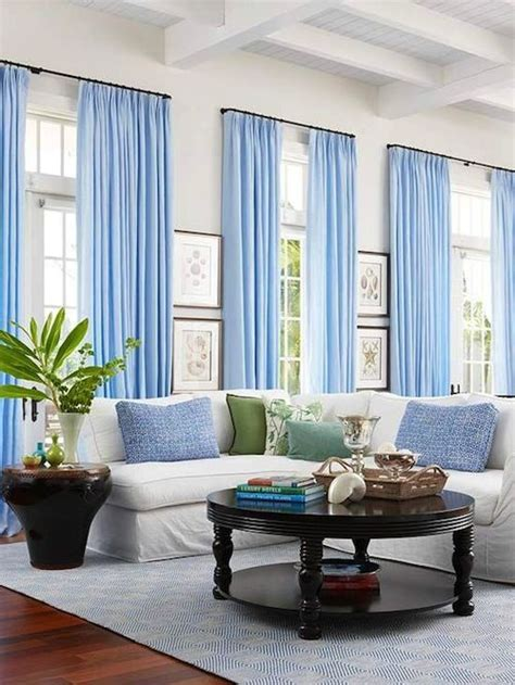Blue And White Curtains For Living Room White Walls Baby Blue Curtains Decor Living Room