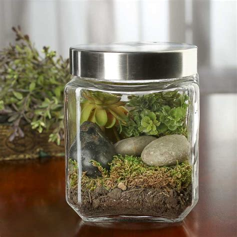 square glass canister decorative containers kitchen