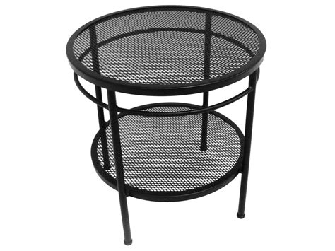 Wrought Iron End Tables by Meadowcraft Cove Wrought Iron 20 Two Tier End Table