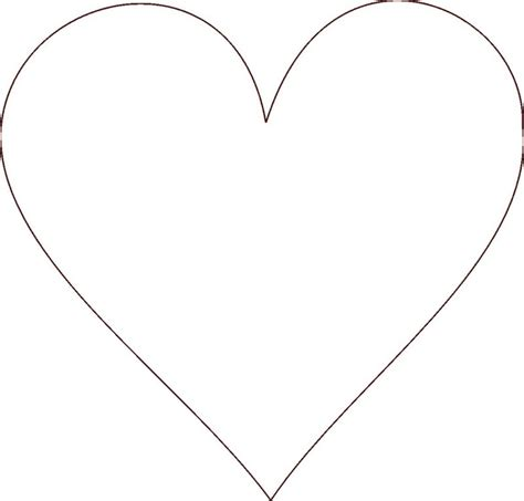 Coloring Pages Of Big Hearts | big heart pictures cliparts co