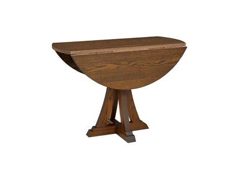 Drop Leaf Pedestal Table Eiffel Drop Leaf Single Pedestal Table Lloyd S Mennonite Furniture Gallery Solid Wood