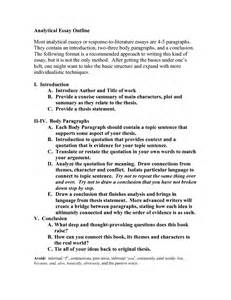 Analytical Essay Outline Template best photos of analytical research paper exle