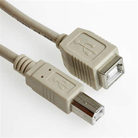 Usb Bb b stecker buchse usb 2 0 verl 228 ngerungen usb 2 0 kabel