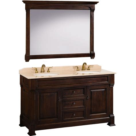 double bathroom vanity 60 60 quot andover double sink vanity dark cherry bathgems com
