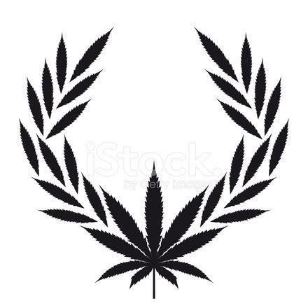 marijuana wreaths vector isolated on white cannabis stock