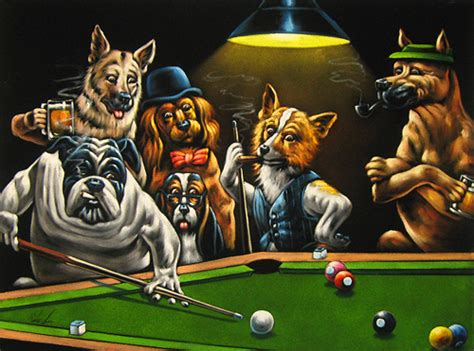 big dogs billiards velvet painting of dogs pool billiards 24 quot x18 quot or 36 quot x 24 quot size the velvet