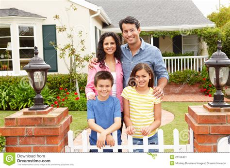 family and home hispanic family outside home stock image image 21156431