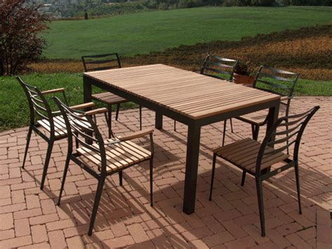 Patio Table Set Aluminium Patio Sets Storefivestars Patio Table In Aluminium With Top In Teak Outdoor