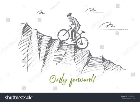 Only Forward vector only forward concept stock vector