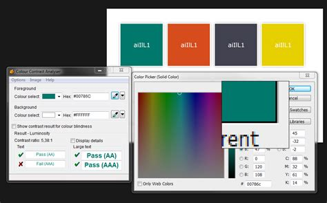 color contrast analyzer tips to create an accessible and contrasted color palette