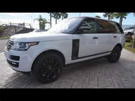 2017 land rover range rover 5.0l v8 supercharged youtube