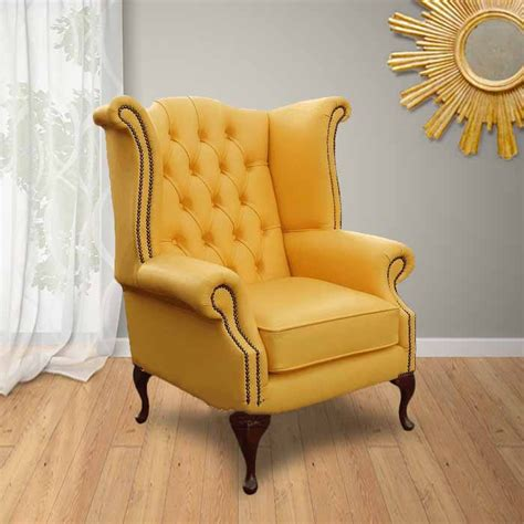 Living Room Chairs Uk Yellow Chesterfield High Back Wing Chair Designersofas4u