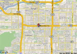 where is tempe arizona on the map map of embassy suites hotel tempe tempe