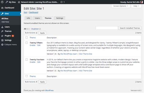 theme editor wordpress multisite wordpress multisite masterclass activation and