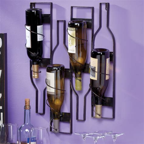 wall mounted wine bottle holder wine bottle holders