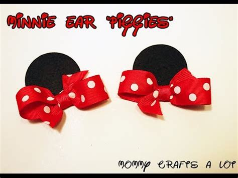 minnie mouse hair designs he was trying to know minnie mouse inspired ears hair bow tutorial how to make