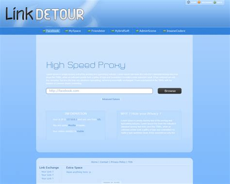 link template link detour proxy template by bla2e on deviantart