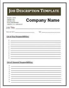 how to create description template description template free business templates