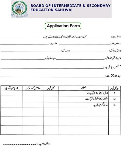 Sahiwal Board Vacancies For Electrician Driver Dg Set Operator Etc Pakworkers Board Application Template