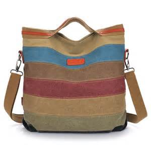 colorful purses canvas striped crossbody bags vintage contrast color