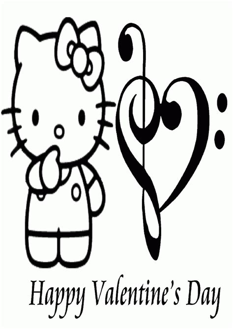 free hello kitty valentines day coloring pages free printable hello kitty valentine coloring pages
