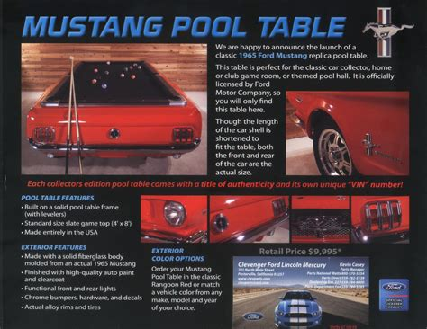 mustang pool table the mustang source ford mustang forums