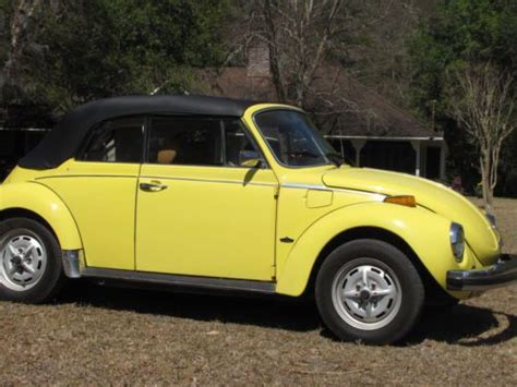 yellow volkswagen convertible purchase used yellow 1979 vw beetle convertible cabriolet