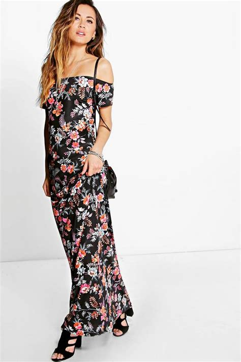 Caroline Dress Maxi carolina floral the shoulder maxi dress boohoo