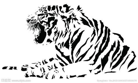 老虎线稿图矢量图 野生动物 生物世界 矢量图库 昵图网nipic com