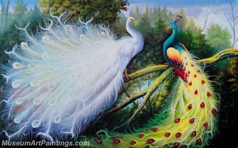 Lukisan Burung Custom peacock peacock paintings for sale museumartpaintings
