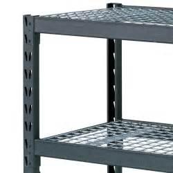 industrial shelving racks costco uk whalen 4 tier 77 quot 195cm industrial storage rack