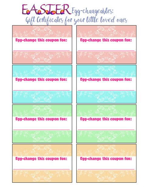 can you buy printable gift cards free printable easter gift certificates for kids