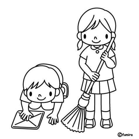 clean house coloring page free coloring pages of house cleaning