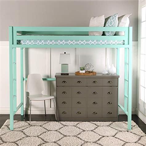 we furniture premium twin metal loft bed mint best