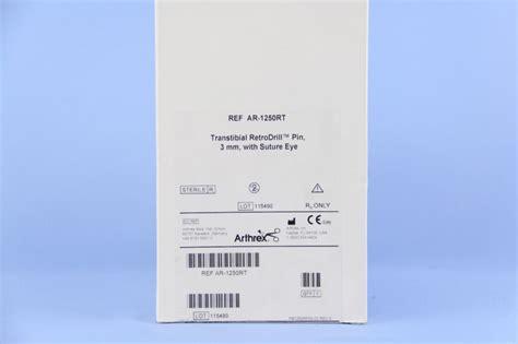 Suture Needle Hecting Eye Remedy Per Box arthrex ar 1250rt arthrex transtibial retrodrill pin 3mm with suture eye esutures