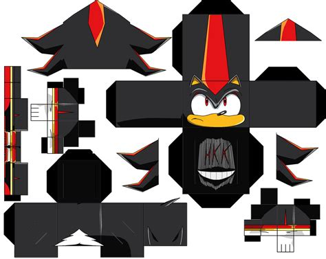 Shadow Papercraft - shadow the hedgehog paper free printable papercraft