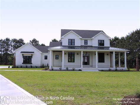 designs farmhouse plan wm client built in north carolian modern farmhouse plan 52269wm comes to life in north carolina