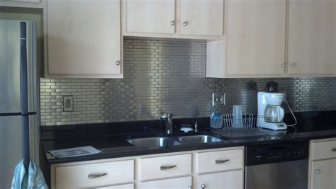 kitchen metal backsplash ideas 5 diy stainless steel kitchen makeovers on the cheap do it yourself ideas