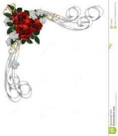beira vermelha das rosas do convite do casamento