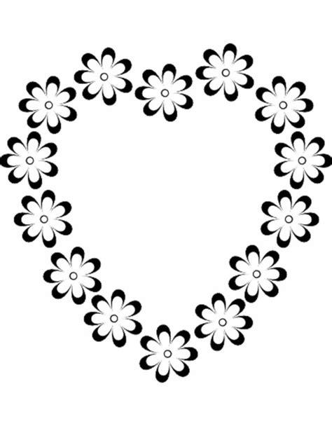 disegni sui fiori disegno di cuore di fiori da colorare per bambini