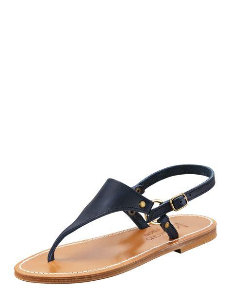navy sandals for k jacques triton slingback flat sandal navy