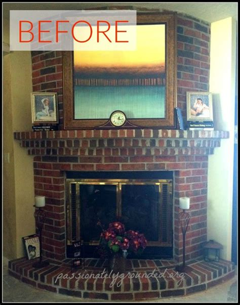 Replace Brick Fireplace With by 10 Gorgeous Ways To Transform A Brick Fireplace Without