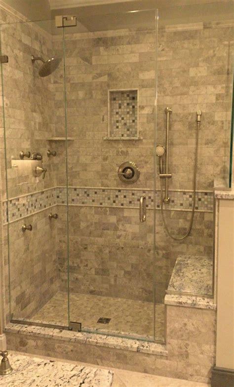 tiled walk in shower with bench tile walk in shower design kenwood kitchens in