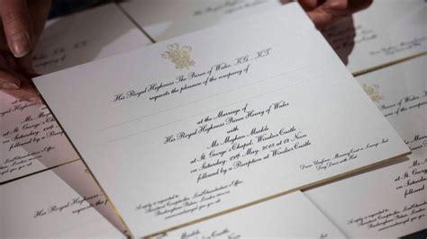 royal wedding invitations prince harry and meghan markle s wedding invitations revealed