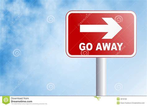 Go Away go away sign stock photo image 4818100