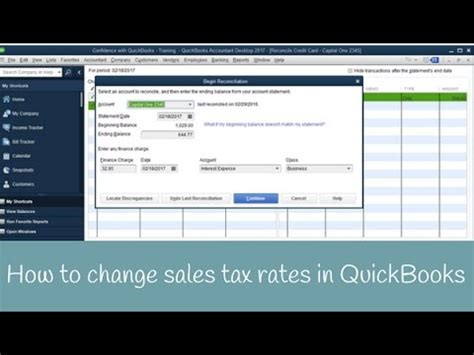 quickbooks tutorial sales tax how to update or change sales tax rates in quickbooks