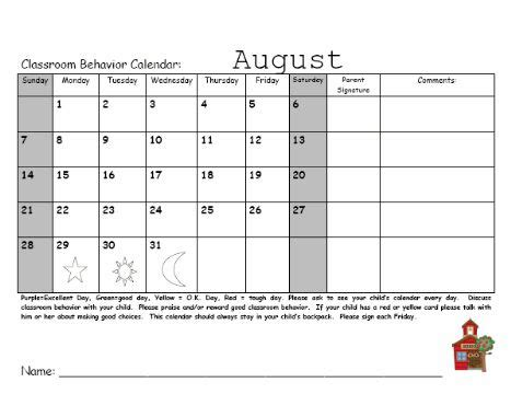 monthly behavior calendar template best 25 monthly behavior calendar ideas on